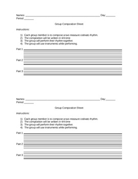 Ostinato Rhythm Compositions