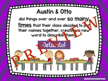 """Ostinato"" - an original story of two boys to introduce ostinato"
