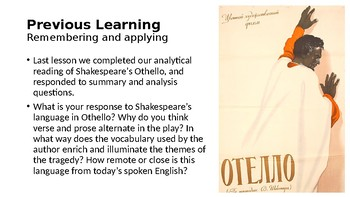 Othello (16) Essay writing/revision lesson