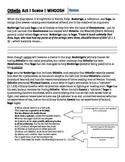 Othello - Act 1, Scene 1 - Guided Summary & Language Analysis
