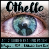 Othello Act 2 Guided Reading Packet PLUS PowerPoint