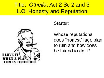 Othello Act 2 Sc 2 and 3