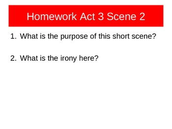 Othello Act 3 Sc 1 and 2
