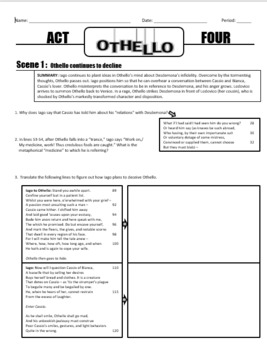 Othello Act 4 Packet