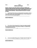 Othello Act 4/5 Quote Response Quiz