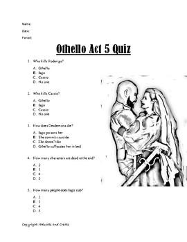 Othello Act 5 Quiz