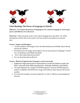 Othello Act I Close Reading