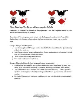 Othello Act I Close Reading