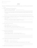 Othello - Act II Quiz/Test