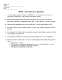 Othello - Act III Discussion Questions