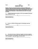 Othello Act by Act Quote Response Quiz BUNDLE!