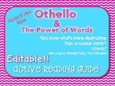 *Editable*** Othello Active Reading Guide