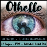 Othello Acts 1-5 Guided Reading Packet PLUS PowerPoint