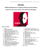 Othello Activity & Assessment Test Pack with Additional Readings