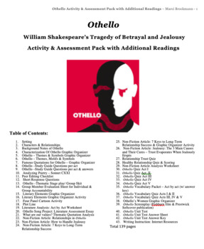 Othello Common Core Aligned Activity & Test Pack
