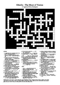 Othello - Crossword Puzzle