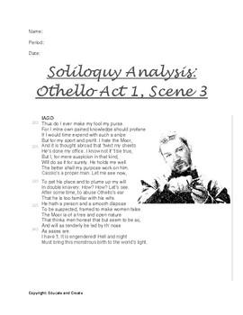 Othello --- Iago - Soliloquies Act 1 and 2 Analysis + Character Analysis