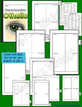 OTHELLO: INTERACTIVE NOTEBOOK CHARACTERIZATION MINI FLIP