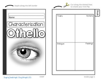 OTHELLO: INTERACTIVE NOTEBOOK CHARACTERIZATION MINI FLIP