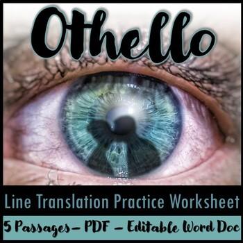 Othello Line Translation Practice Worksheet
