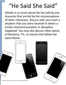Othello Literacy Stations Common Core