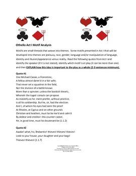 Othello Motif Analysis