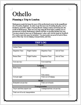 Othello - Planning a trip to London