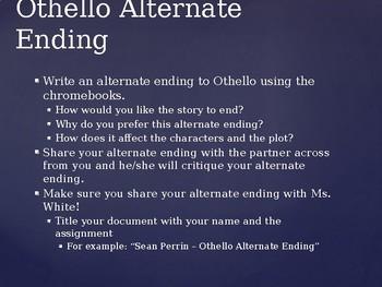 Othello Post-Reading Activities