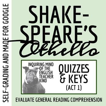 Othello Quiz - Act 1 (Common Core Aligned)