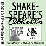 Othello Quiz - Act 4