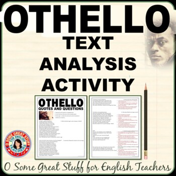 Othello Quote Analysis Activity-Plot and Character Development