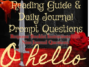 Othello Day to Day Reading Guide & Journal Prompt Questions