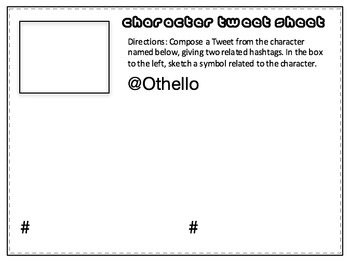 Othello Twitter-Style Task Cards: Bell-Ringers, Quizzes, Discussion Questions