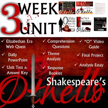 William Shakespeare's Othello: Common Core Curriculum Aligned Unit
