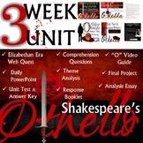 William Shakespeare's Othello: Common Core Curriculum Aligned Unit