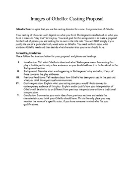 Othello WebQuest and Casting Proposal