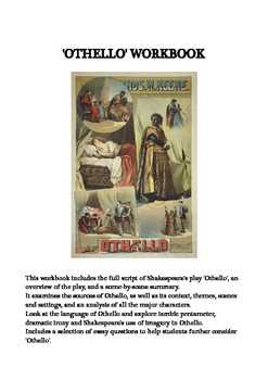 Othello by Shakespeare - workbook with script