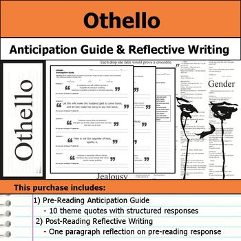 Othello by William Shakespeare - Anticipation Guide & Reflection
