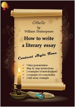 'Othello' by William Shakespeare - How to write the litera