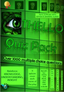 'Othello' by William Shakespeare - Quiz Pack