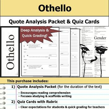 Othello by William Shakespeare - Quote Analysis & Reading Quizzes