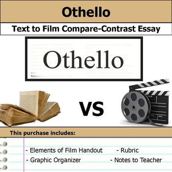 Othello by William Shakespeare - Text to Film Essay Bundle