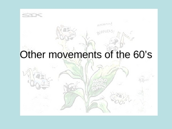 Other Social Movements of the 1960's PPT