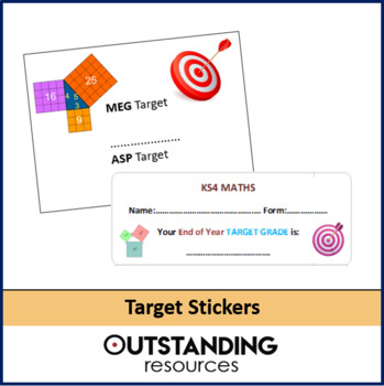 Whole School: Target Stickers, a Proforma (14 per page)