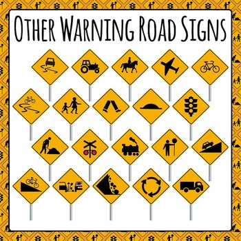 Other Various Road Signs Commercial Use Clip Art Set