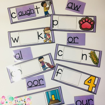 Other Vowel Patterns/Diphthongs Build a Word - Phonics Alternative Spelling