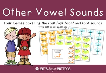 Other Vowel Sounds Games - ou, oy, ooh, oo