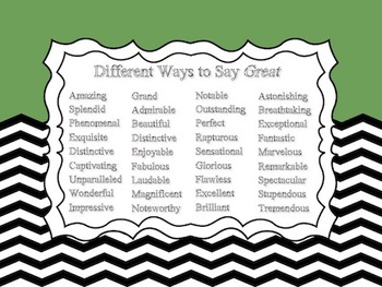 Other Ways to Say... Set of 4 Posters