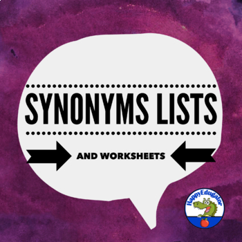 Synonyms Posters or Reference Sheets