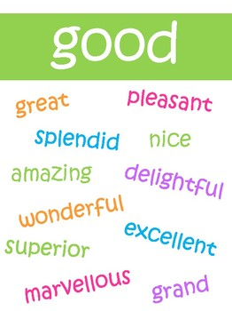 Synonym posters- Other words for